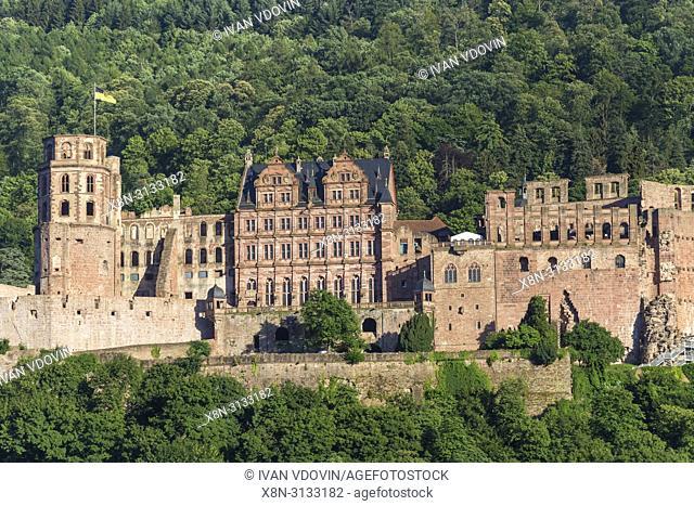 Heidelberg Castle, Heidelberger Schloss, Heidelberg, Baden-Wurttemberg, Germany