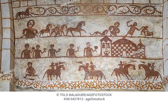 Pinturas murales , Iglesia de Nuestra Señora de la Asunción , Alaitza, Álava, Spain, Europe