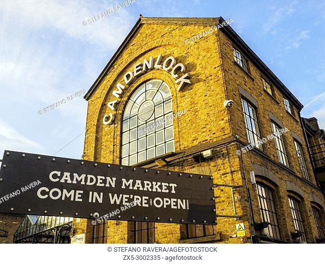 Entrance in Camden market Camdenlock - London, England