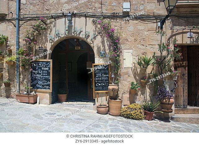 Details in Valldemossa town on a sunny day in July in Mallorca, Balearic islands, Spain