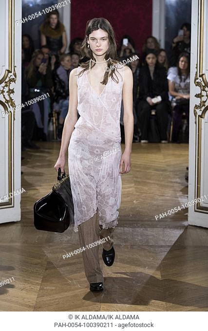JOHN GALLIANO'Äã runway show during Paris Fashion Week, Pret-a-Porter Autumn Winter 2018 - 2019 collection - Paris, France 04/03/2018
