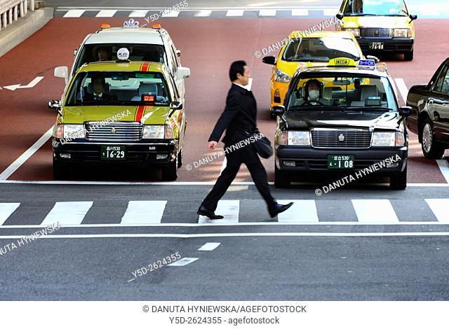 street scene, Chuo-ku, Central Ward, Chuo City, heart of Tokyo, Japan
