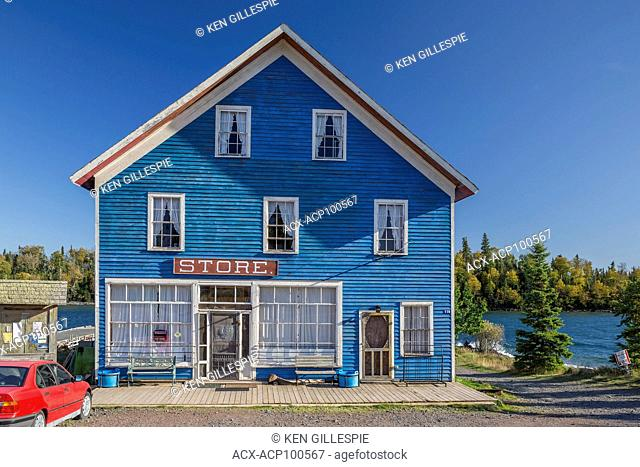 General Store at the village of Silver Islet on Sibley Peninsula, Ontario, Canada