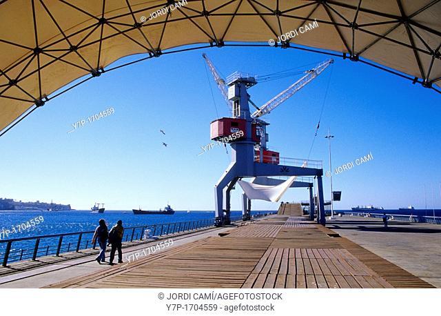 The rehabilitated Muelle Barón  Valparaíso  Chile