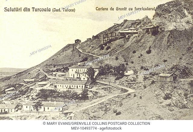 Granite Quarry at Turcoaia - a commune in Tulcea County, Romania