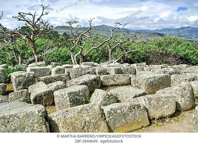 Lintels and stone blocks. Inca Ruins. Ingapirca. Ecuador