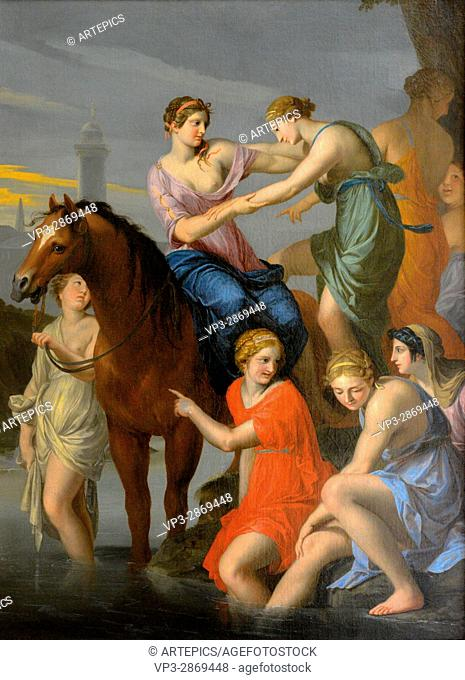 Jacques Stella - Clélie Passant par le Tibre - Louvre Museum Paris