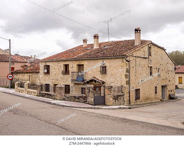 Typical architecture, Prádena. Segovia province. Castile-Leon. Spain