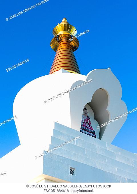 Stupa of the Illumination in Benalmádena, Málaga, Andalusia, Spain, Europe