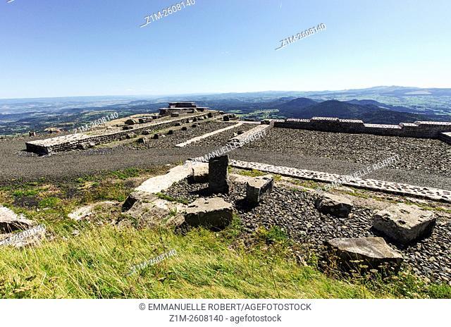 Mercure Temple, Puy de Dome, Park Regional of Auvergne volcanoes France, Europe, National Antique Heritage