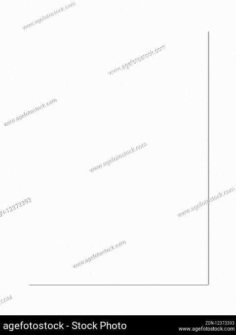 Blank A4 paper sheet mockup template isolated on white background