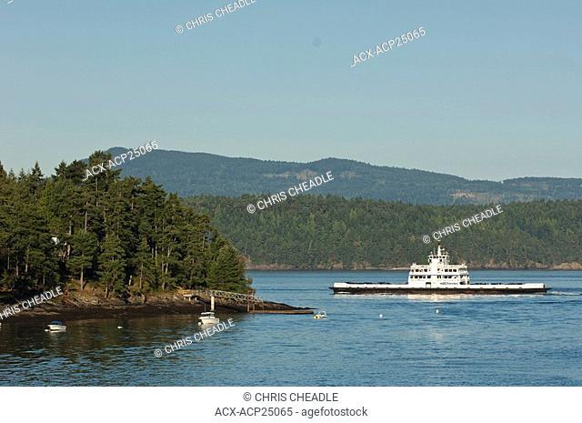 BC Ferries from Mayne Island, Gulf Islands, BC, Canada