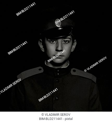 Cossack soldier boy wearing uniform