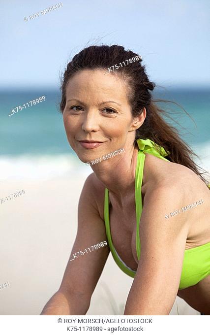 Woman portrait at the beach