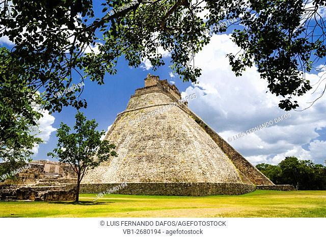 El Adivino or Pyramid of the Magician, Uxmal, Mexico