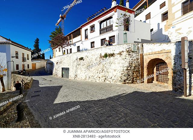 Callejón Tomasas, Albaicin, Granada, Andalusia, Spain, Europe