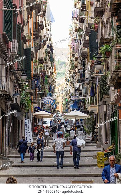 Classical Urban Residential Neighborhood in Naples City Center, Campania, Italy