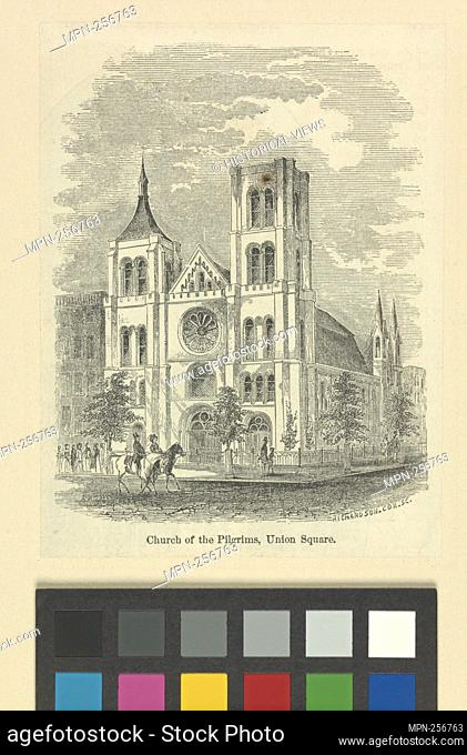 Church of the Pilgrims, Union Square. Eno, Amos F., 1836-1915 (Collector) Wells, Jacob (Artist) Richardson & Cox (Engraver)