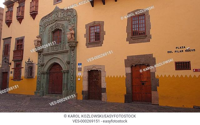 Casa de Colon – Columbus House in Vegueta District of Las Palmas de Gran Canaria, Canary Islands, Spain
