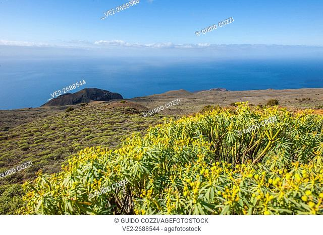 Spain, Canary Islands, El Hierro. Landscape at Orchilla Lighthouse