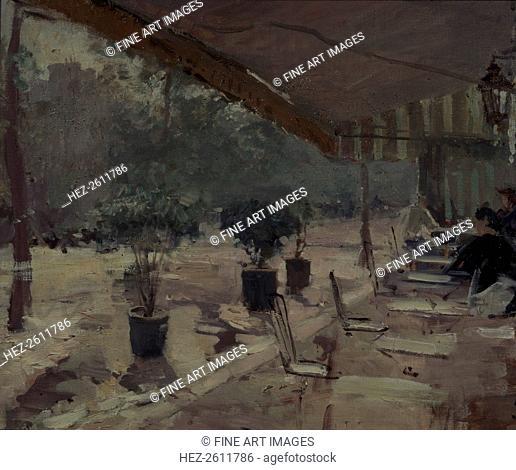 Café in Paris, 1890s. Artist: Korovin, Konstantin Alexeyevich (1861-1939)