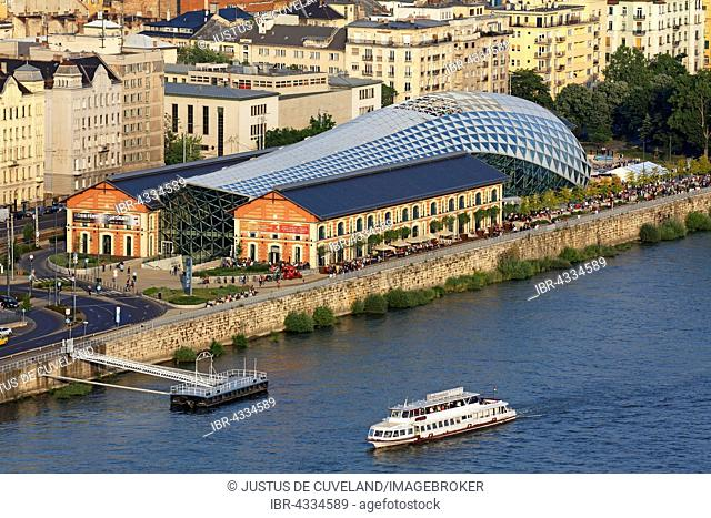 Balna building, cultural center and restaurants on the Danube, Budapest, Hungary