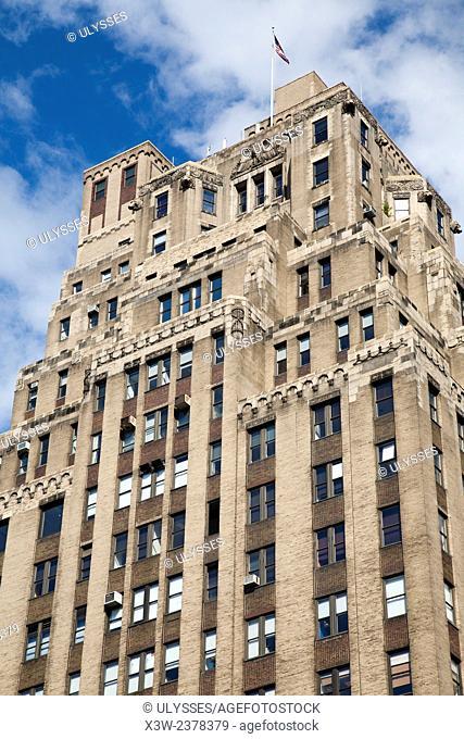 historical skyscraper, 8th avenue and W14th street, Chelsea, Manhattan, New York, USA, America