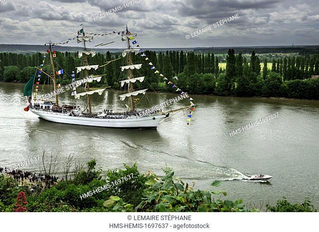 /France, Seine-Maritime, Rouen, the Armada 2013 (concentration of sailboats), Cuauhtémoc, a mexican salingboat