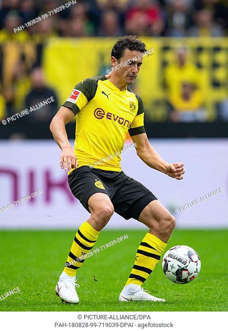 26 August 2018, Dortmund, Germany: Soccer, Bundesliga: Borussia Dortmund vs. RB Leipzig, 1st game day in Signal Iduna Park