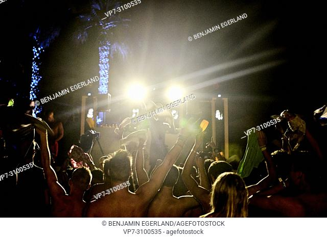 hands up at music festival