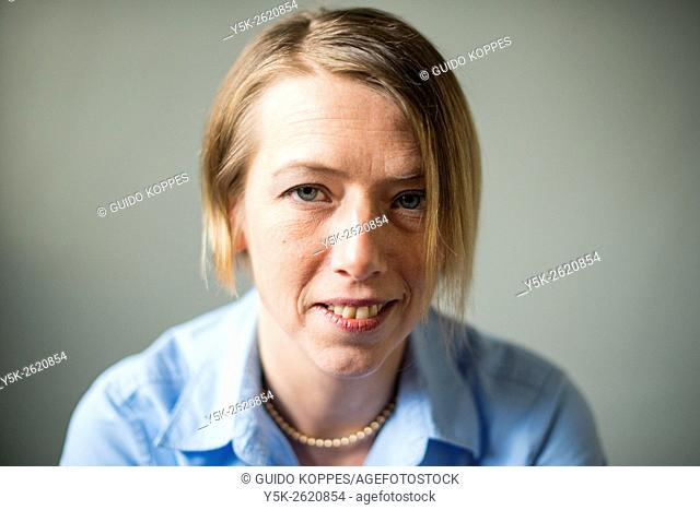 Tilburg, Netherlands. Headshot of am attractive, blonde woman