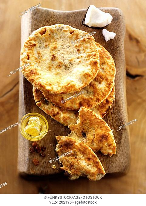 Peshwari Naan  coconut sultanas and honey Bread - Indian Cuisine