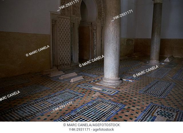 Africa, Morocco, marrakech Saadian tombs
