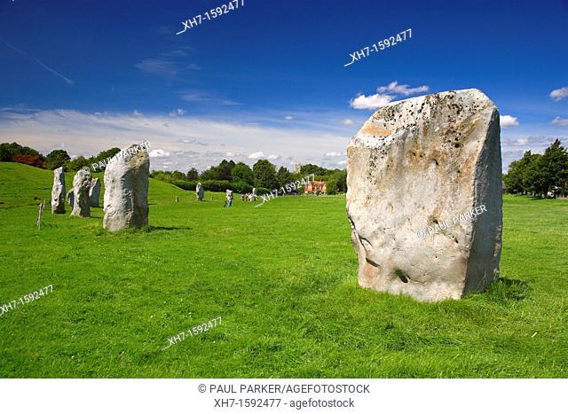Avebury, Prehistoric Stone Circle, Avebury, Wiltshire, England, UK