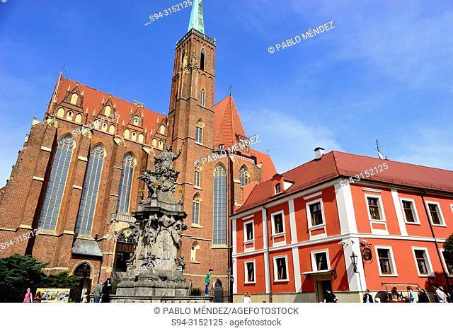 Church of Santa Cruz in the islands of Wroclaw or Breslau, Poland