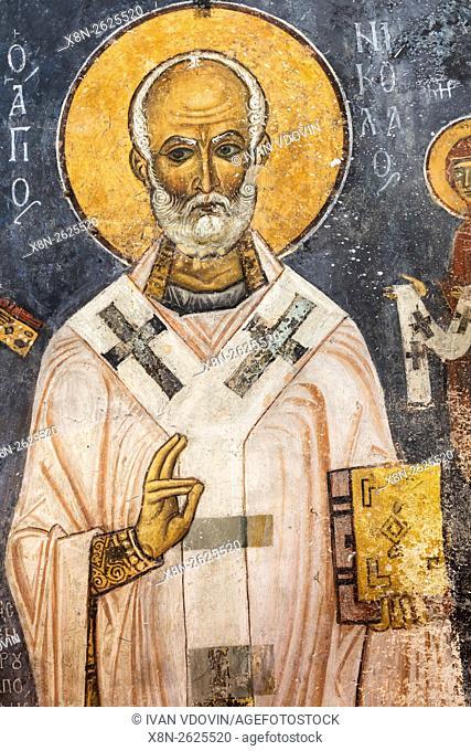 Byzantine fresco (12th century), Church of Ayios Nikolaos tis Steyis, Kakopetria, Cyprus