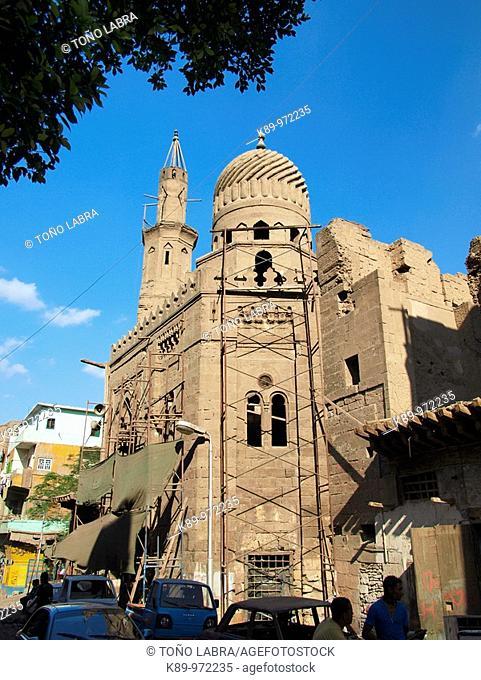Mameluke mosque, Islamic Quarter, Cairo, Egypt