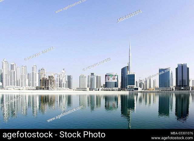 Modern architecture, Dubai Business Bay, Dubai, United Arab Emirates, Asia