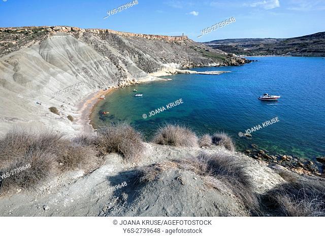 Gnejna Bay, Golden Bay, Malta