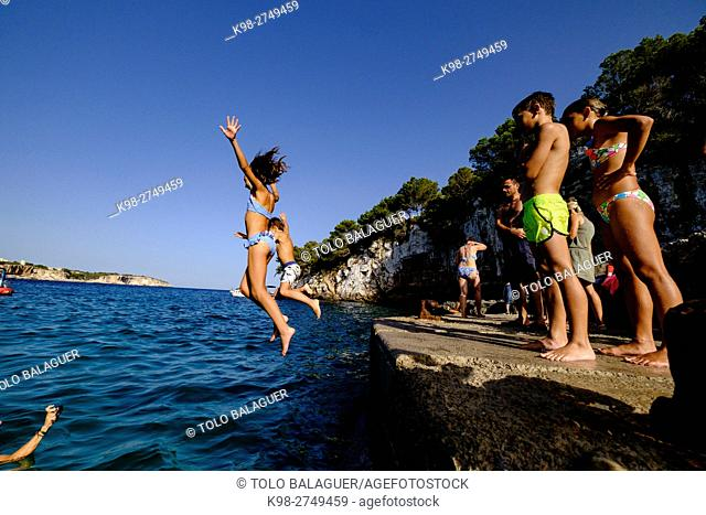 Cala Llombarts, Santanyi, Majorca, Balearic Islands, Spain