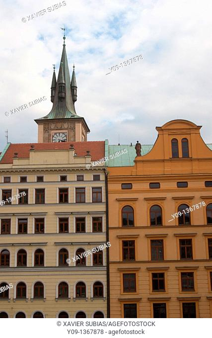 Old Water Tower and buildings, Prague, Czech Republic