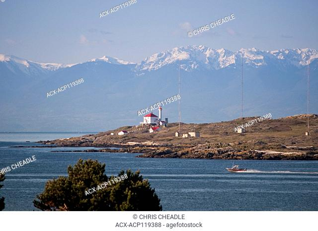 Trial Island and Olympic Mountains, British Columbia, Canada
