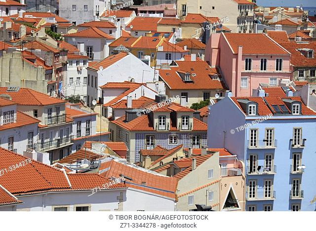 Portugal, Lisbon, Alfama, skyline, general view, houses,
