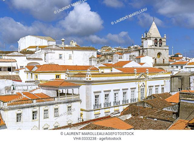 Cityscape with the Clock tower of the church of Our Lady of the Assumption, Garrison Border Town of Elvas and its Fortifications, Portalegre District