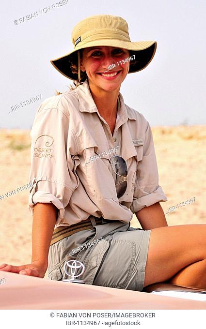 Ranger on Sir Bani Yas Island, Abu Dhabi, United Arab Emirates, Arabia, Near East, Orient