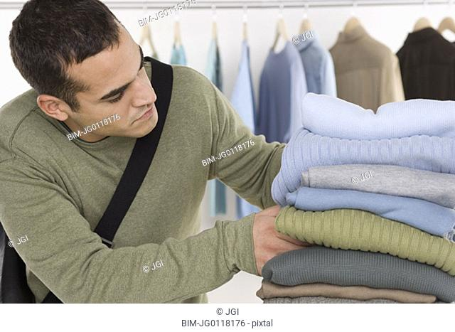 Man shopping for clothing