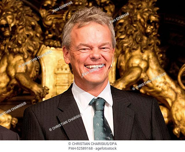 (FILE) - An archived picture, dated 05 September 2014, shows brain scientist Edvard Moser from Norway smiling after being awarded the Koerber prize for European...