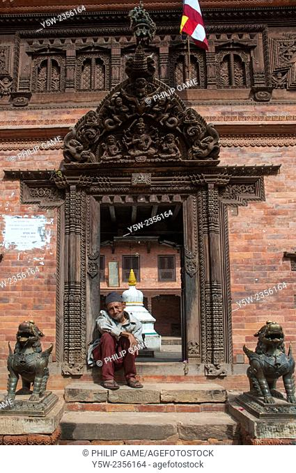 Traditional building on Dattatreya Square, Bhaktapur, Kathmandu Valley, Nepal. Taken before the catastrophic April 2015 earthquake