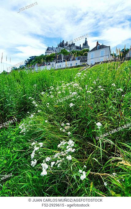 Chaumont-sur-Loire village and castle, Loire River, Chaumond-sur-Loire, Loir-et-Cher Department, The Loire Valley, France, Europe