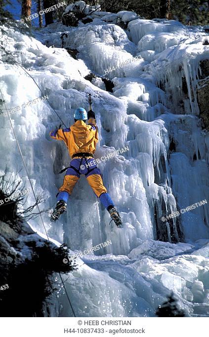 Canada, North America, America, Ice climber, Maligne Canyon, Jasper, national park, UNESCO, World heritage site, lands